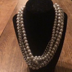BANANA REPUBLIC multi-strand faux pearls & chains